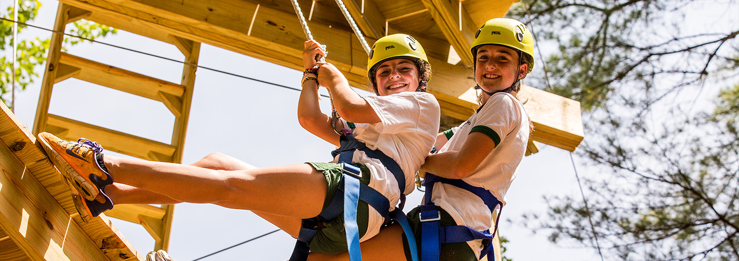 girls on the ropes course